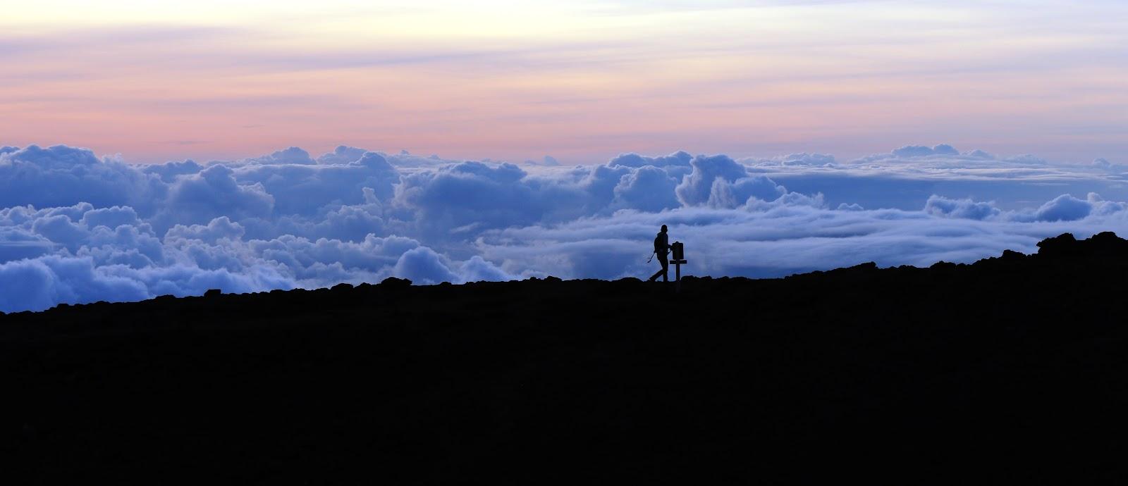 Ride your bike to Haleakala Summit Building for sunset.