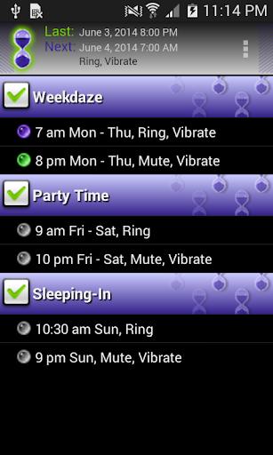 Timeriffic screenshot 2