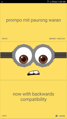 English to minion Translator - screenshot