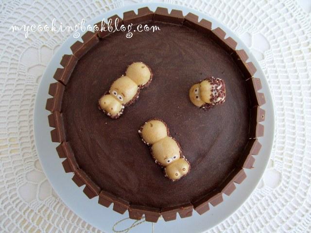 Торта с кит кат (KitKat) и хеппи хиппо (Happy Hippo)