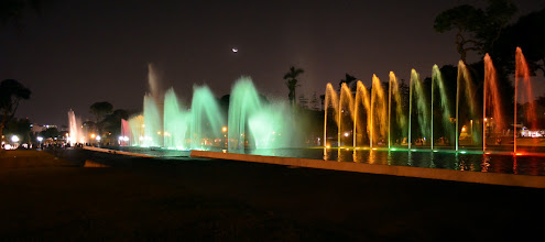Photo: This was what the fountain looked like during intermission from the light show!