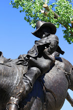 Photo: Chris LeDoux Bronze by D. Michael Thomas - Chris LeDoux Memorial Park - Kaycee, Wyoming