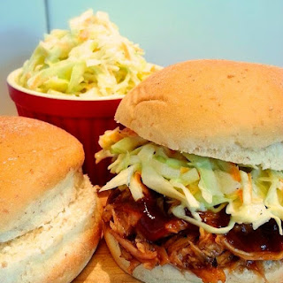 BBQ Pulled Pork Sliders with KFC Copy Cat Coleslaw
