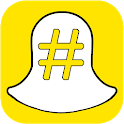 Hashtags for Snap chat icon