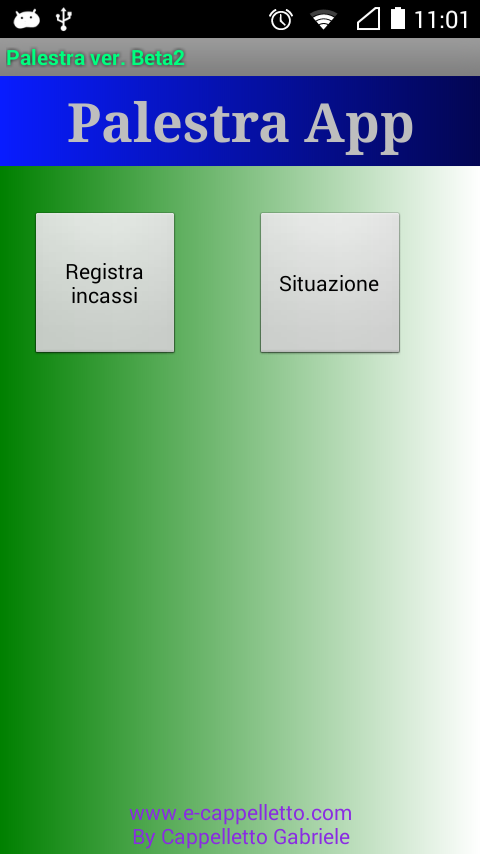 Palestra App - test- screenshot
