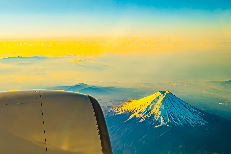 ANA 機窓 富士山