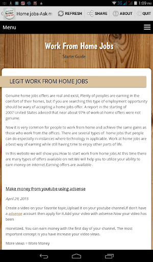 Home jobs-Ask me how