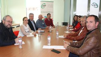 Miembros del CSIF en una reunión con el delegado de Salud el mes pasado.