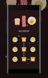 Food APP Lock Theme Breakfast Pin Lock Screen - náhled