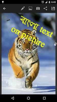 bangla sms on photo - screenshot