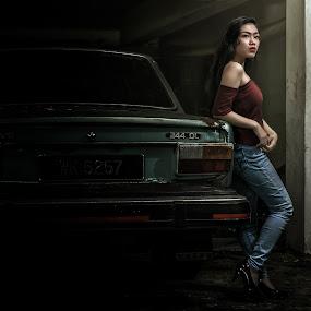 Volvo Lady by Budin DaneCreative - People Fashion ( potrait, fashion, red, lady, volvo,  )