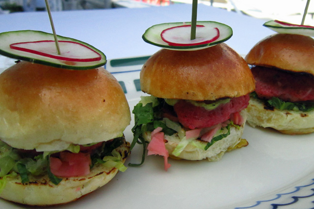 Photo: Tuna Sliders: http://www.thedailymeal.com/11-sexy-slider-recipes-slideshow#11
