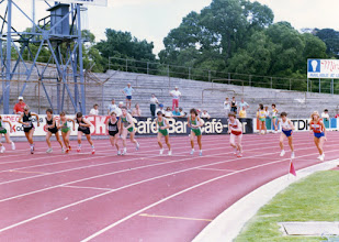 Photo: VII World Veteran's Games, 1987, Melbourne, Australia 1500m, Jacqueline Hansen