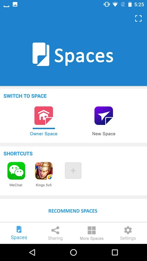 Spaces- screenshot