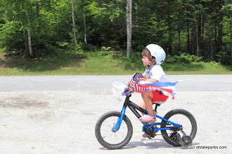 Photo: Tiny rider in the 4th of July bike parade at Stillwater State Park by David Jalbert