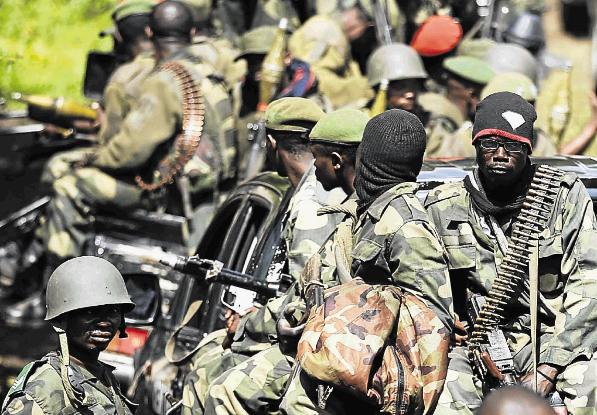 Congolese army soldiers.