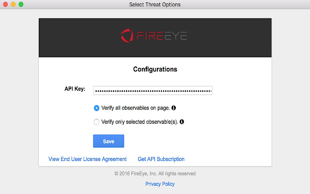 FireEye iSIGHT Browser Extension