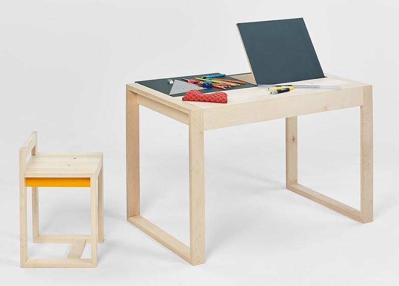 Estudiantes dise an muebles para ni os que fomenta la for Mobiliario para estudiantes