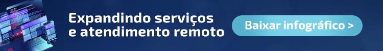 Banner para a página de download do infográfico sobre atendimento remoto da ELGScreen.