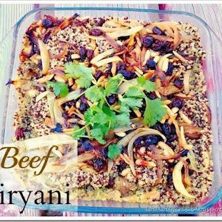 Beef Biryani with Quinoa.