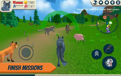 Télécharger gratuit Wolf Simulator: Wild Animals 3D APK MOD 2