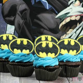 Superhero Party Ideas – Batman Chocolate Cupcakes!.