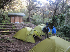 Photo: First night at Umbwe Cave Camp 2850m