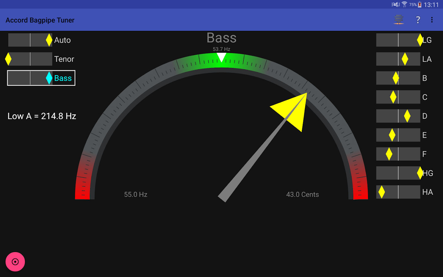 Braw Bagpipe Tuner- screenshot