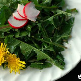Dandelion Spring Salad With Simple Garlic Oil Dressing