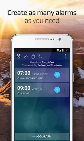 android Alarm Clock Xtreme + Sleep Screenshot 2