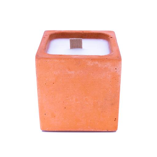BOUGIE EN BETON orange