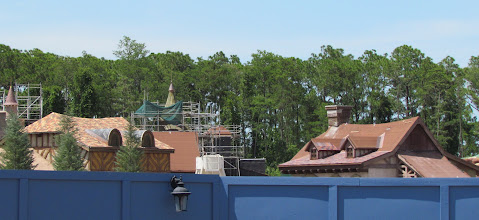 Photo: More roof work in Gaston's Village. Looking good, perhaps the closest part to the feel of old Fantasyland so far.