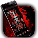Red Blood Skull Launcher icon