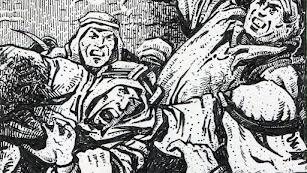 ilustración de José Antonio Canteras Alonso que, mediante la técnica de la tinta negra, ha recreado las leyendas del libro.