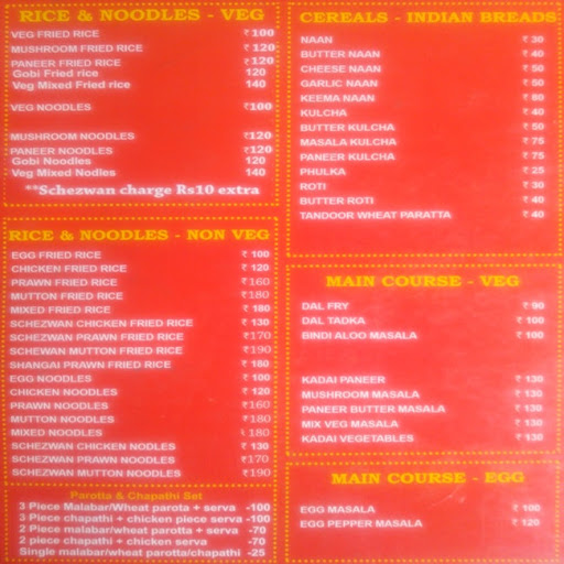 Kareem's Biriyani Paradise menu 2