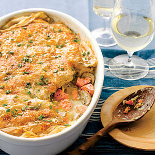 Crisp Phyllo-Topped Salmon Pot Pie Recipe