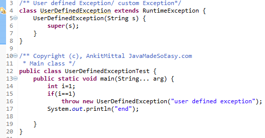 how to use throws a runtimeexception