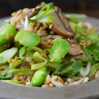 Sesame Toasted Basmati Rice and Broad Bean Salad
