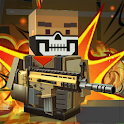 Blocky shooting war game: combat cubic arena icon