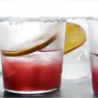 Rhubarb and Tequila Cocktail.