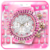 Lux Pink Watch Keyboard Theme