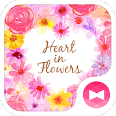 Heart in Flowers +HOME Theme