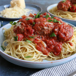 Slow Cooker Spaghetti and Meatballs.