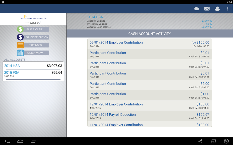 BenStrat Reimbursement Plan- screenshot