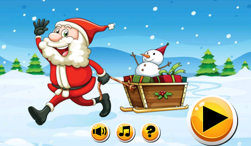 Santa Claus - Wooden Sleigh