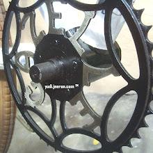 Photo: Gazelle old type crank installed