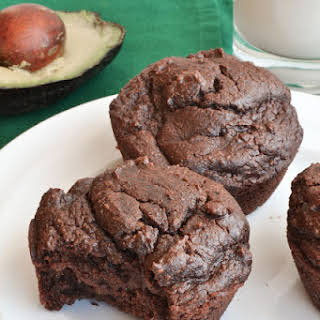 Healthy Whole Wheat Chocolate Avocado Muffins 12 muffins.