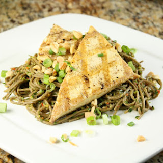 Grilled Tofu with Spicy Soba