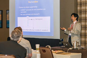 Photo: Bob Nishikawa teaching ROC Analysis; SPIE Medical Imaging 2015