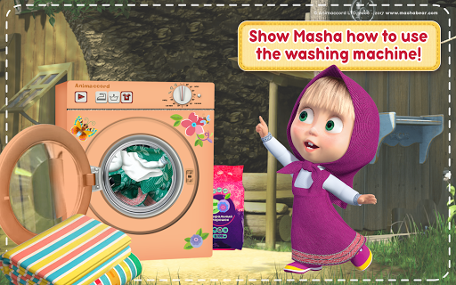 Masha and the Bear: House Cleaning Games for Girls  screenshots 13
